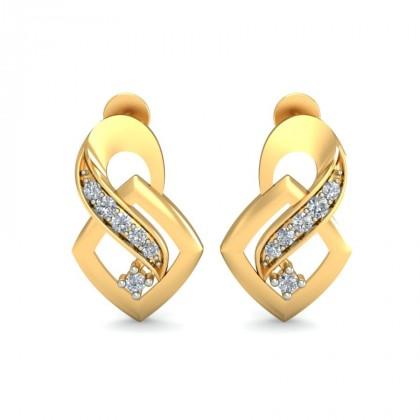 NINA DIAMOND STUDS EARRINGS in 18K Gold