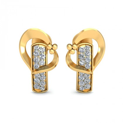 NORA DIAMOND STUDS EARRINGS in 18K Gold