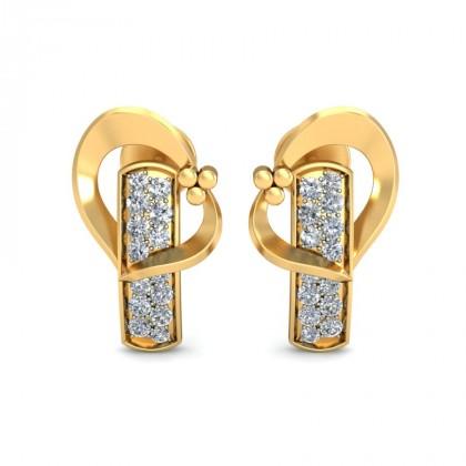 NORA DIAMOND STUDS EARRINGS in 18K Gold