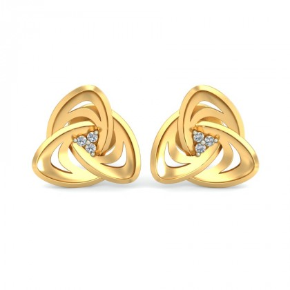 ARINA DIAMOND STUDS EARRINGS in 18K Gold
