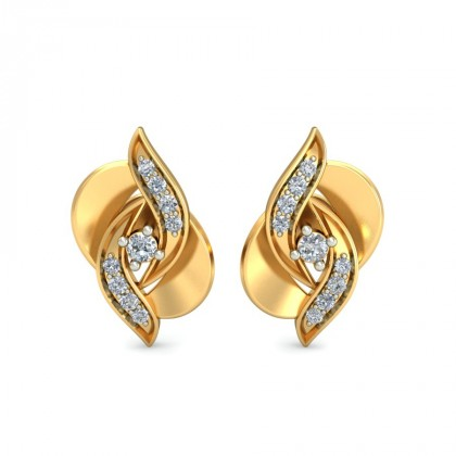 ARIADNE DIAMOND STUDS EARRINGS in 18K Gold