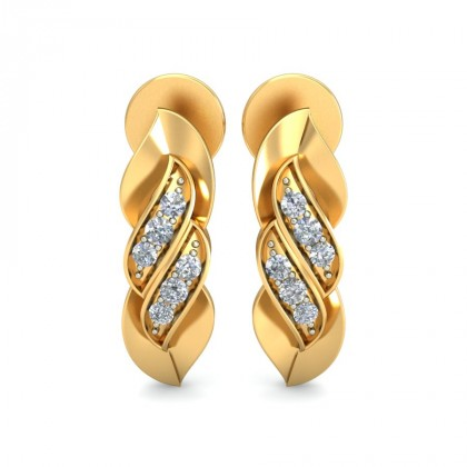 MADHU DIAMOND STUDS EARRINGS in 18K Gold