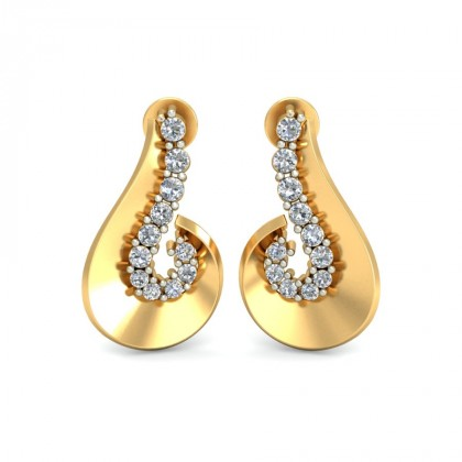ANCHITA DIAMOND STUDS EARRINGS in 18K Gold