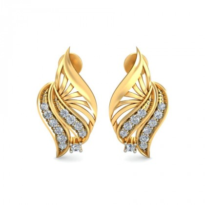 ATHENA DIAMOND STUDS EARRINGS in 18K Gold