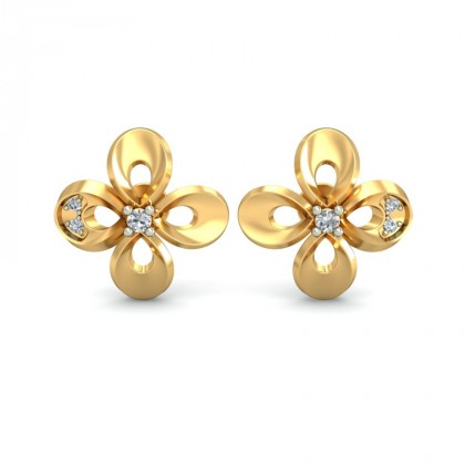 ANUSHA DIAMOND STUDS EARRINGS in 18K Gold