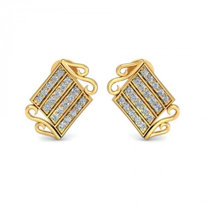 SAKSHI DIAMOND STUDS EARRINGS in 18K Gold