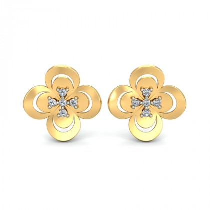 TANVI DIAMOND STUDS EARRINGS in 18K Gold