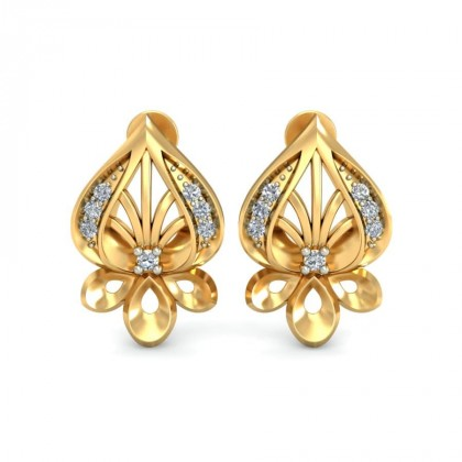 RUCHITA DIAMOND STUDS EARRINGS in 18K Gold