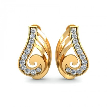 AMAYA DIAMOND STUDS EARRINGS in 18K Gold