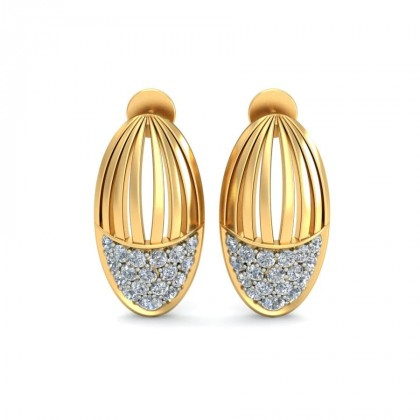 LEIA DIAMOND STUDS EARRINGS in 18K Gold