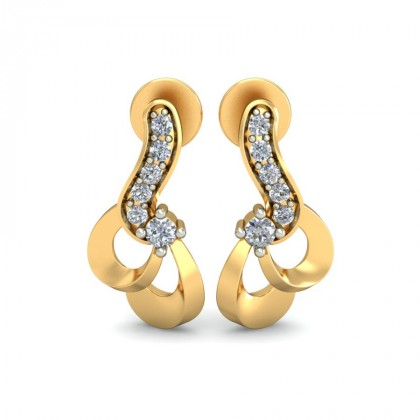 JOURNEY DIAMOND STUDS EARRINGS in 18K Gold