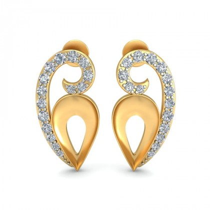 CAMERON DIAMOND STUDS EARRINGS in 18K Gold