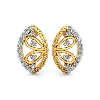 MARIELA DIAMOND STUDS EARRINGS in 18K Gold