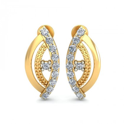 MANANA DIAMOND STUDS EARRINGS in 18K Gold