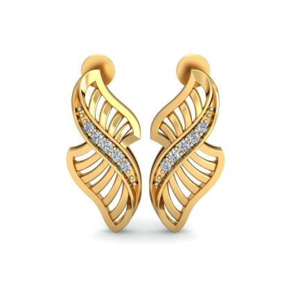 SOFIE DIAMOND STUDS EARRINGS in 18K Gold