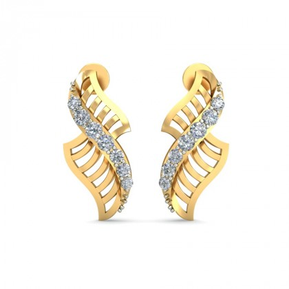 RASIKA DIAMOND STUDS EARRINGS in 18K Gold