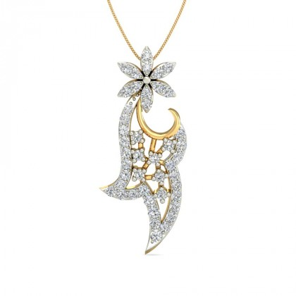 SHAY DIAMOND FLORAL PENDANT in 18K Gold