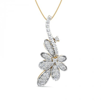 ZURI DIAMOND FLORAL PENDANT in 18K Gold