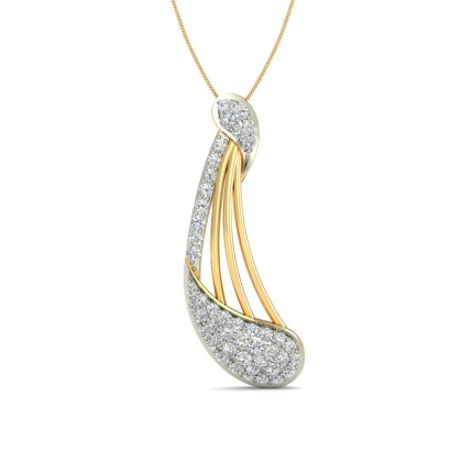 LOVE DIAMOND FASHION PENDANT in 18K Gold