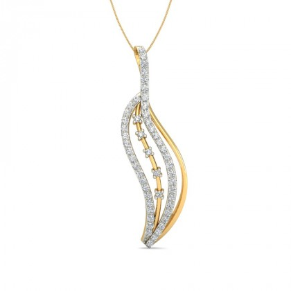 BOWIE DIAMOND FASHION PENDANT in 18K Gold
