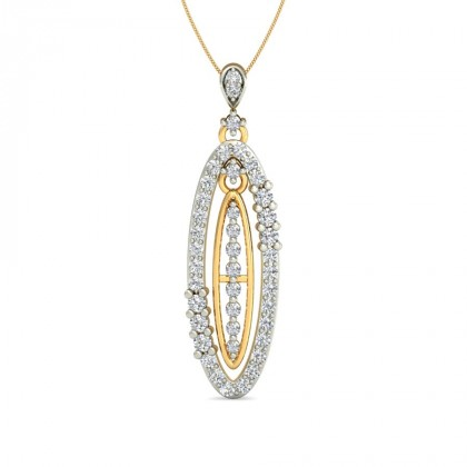 CADENCE DIAMOND FASHION PENDANT in 18K Gold