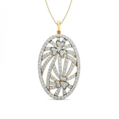 STEFANY DIAMOND FASHION PENDANT in 18K Gold