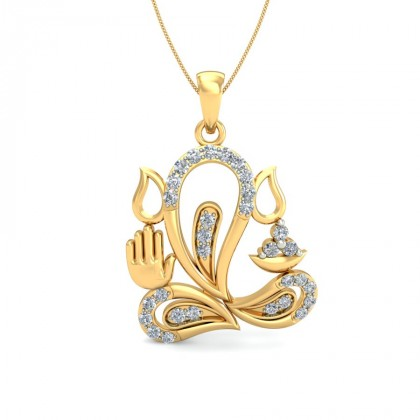KALYANI DIAMOND RELIGIOUS PENDANT in 18K Gold