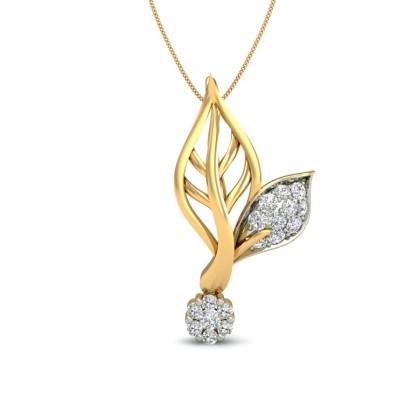 CHANDAN DIAMOND FLORAL PENDANT in 18K Gold