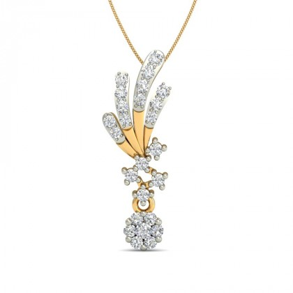 SKYLER DIAMOND FLORAL PENDANT in 18K Gold