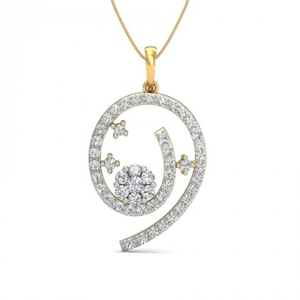 TARIKA DIAMOND FASHION PENDANT in 18K Gold