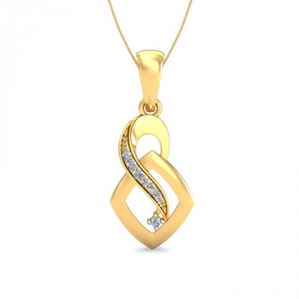 DARLENE DIAMOND FASHION PENDANT in 18K Gold