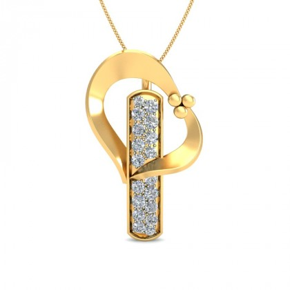 AMBA DIAMOND FASHION PENDANT in 18K Gold