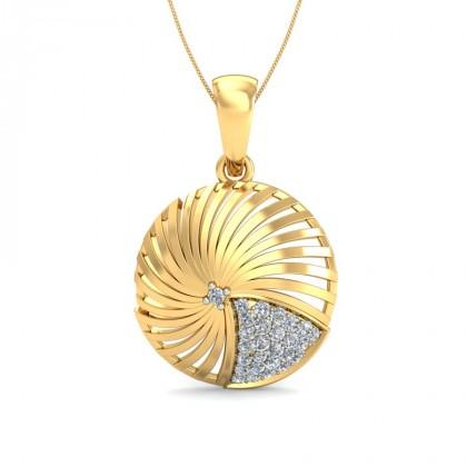 ATHENA DIAMOND FASHION PENDANT in 18K Gold