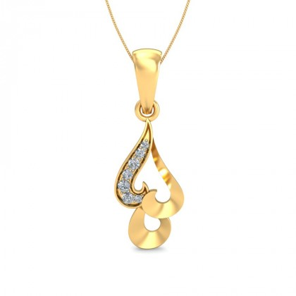 ANJUM DIAMOND FLORAL PENDANT in 18K Gold