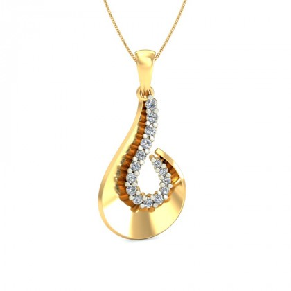 DANICA DIAMOND FASHION PENDANT in 18K Gold