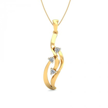 KASTURI DIAMOND FASHION PENDANT in 18K Gold