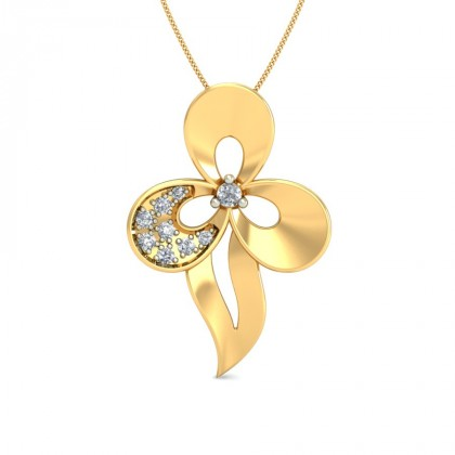 TVISHA DIAMOND FLORAL PENDANT in 18K Gold