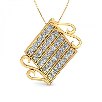 VIMUDHA DIAMOND FASHION PENDANT in 18K Gold