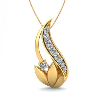 CAMRYN DIAMOND FLORAL PENDANT in 18K Gold