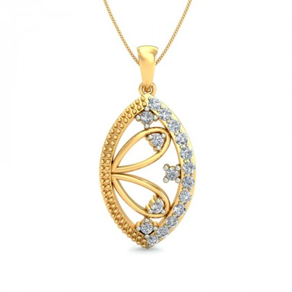 AIDA DIAMOND FLORAL PENDANT in 18K Gold