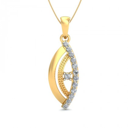 MITHILA DIAMOND FASHION PENDANT in 18K Gold