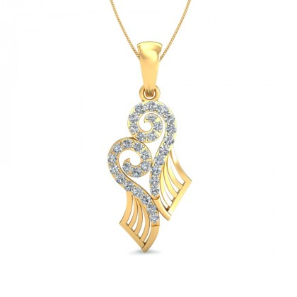 AILANI DIAMOND FASHION PENDANT in 18K Gold