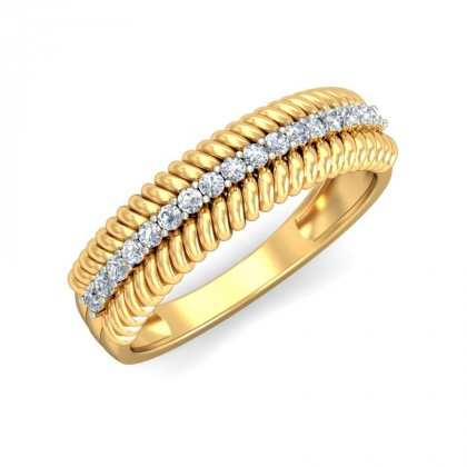 NITA DIAMOND BANDS RING in 18K Gold