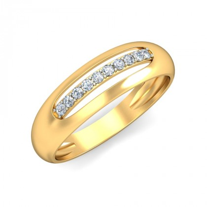 AVIA DIAMOND BANDS RING in 18K Gold
