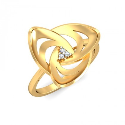 SHAMITA DIAMOND CASUAL RING in 18K Gold