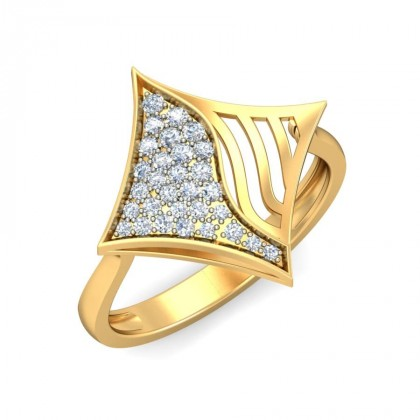 LIZ DIAMOND COCKTAIL RING in 18K Gold