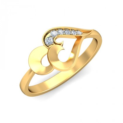 JOYCE DIAMOND CASUAL RING in 18K Gold