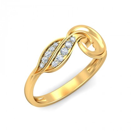 AVRIL DIAMOND CASUAL RING in 18K Gold