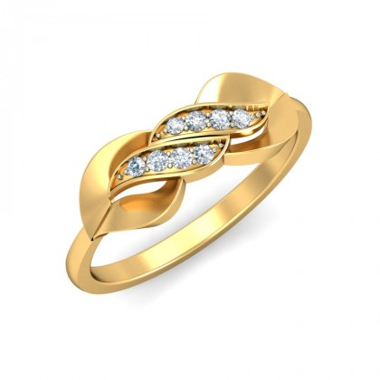 ZORA DIAMOND CASUAL RING in 18K Gold