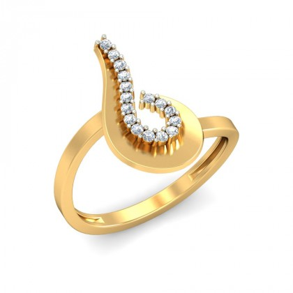SHANTI DIAMOND CASUAL RING in 18K Gold